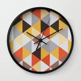 Jacquard rombs Wall Clock
