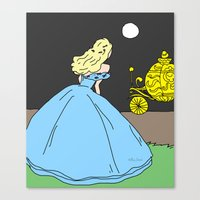 cinderella Canvas Prints featuring Cinderella by RaJess