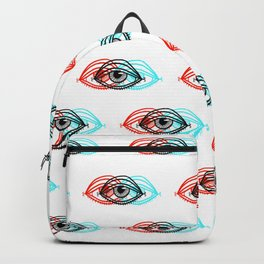3D Eye Pattern Backpack