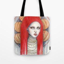 """Kaos"" Mixed Media Portrait painting Tote Bag"