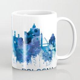 Bologna Italy Skyline Blue Coffee Mug
