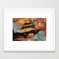 cheshire cat Framed Art Prints featuring Cheshire by Marwood Designs