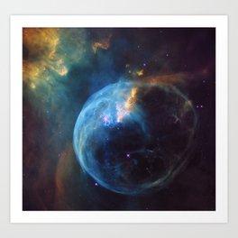 Bubble Nebula Art Print