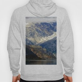 Alaska's Rugged Mountains Framed by Misty Clouds Hoody