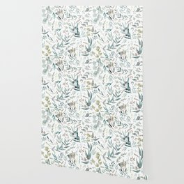 Eucalyptus pattern Wallpaper