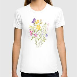 yellow pink white and  purple windflowers 2020 T-shirt