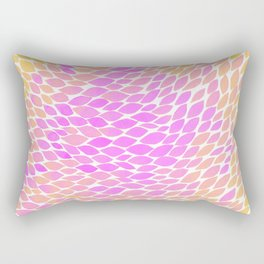 Ombre leaves - pink and yellow Rectangular Pillow