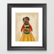 Marlowe Visits the Library Framed Art Print