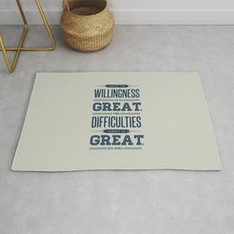 Lab No. 4 Where The Willingness Niccolo Machiavelli Inspirational Quotes Rug