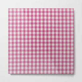 Gingham lovers (bubble gum) Metal Print