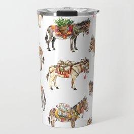 Nepal Donkeys Travel Mug