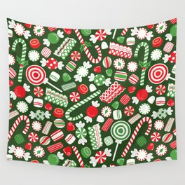 Christmas Candy Traditional Wall Tapestry