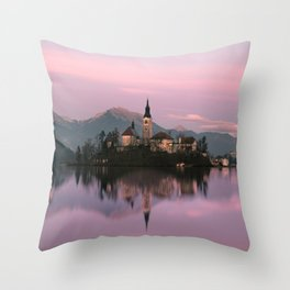 Bled, Slovenia Throw Pillow
