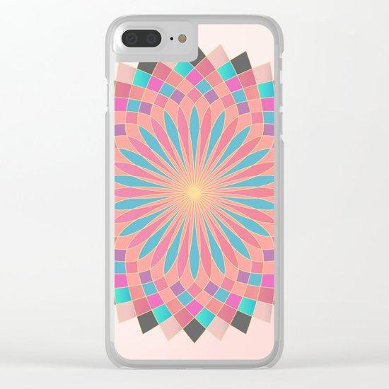 Lotus Mandala Clear iPhone Case