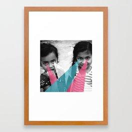 Nepal Eyes Framed Art Print