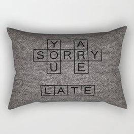 Sorry Rectangular Pillow
