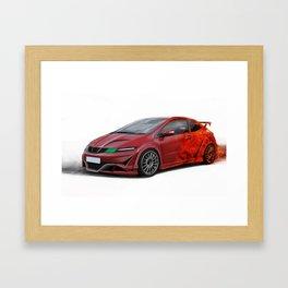Honda Civic TypeR Framed Art Print