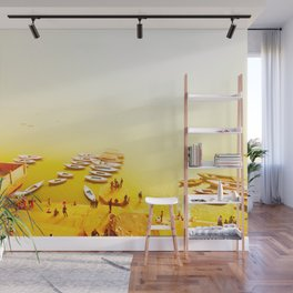 Golden shores of the Ganges river Wall Mural