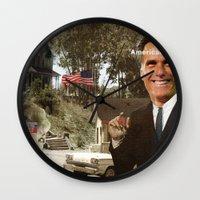 american psycho Wall Clocks featuring American Psycho - 2 by Marko Köppe