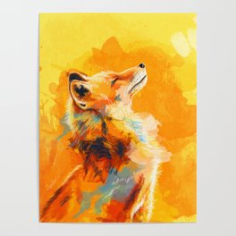 Blissful Light - Fox portrait Poster