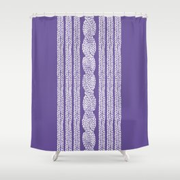 Cable Stripe Violet Shower Curtain