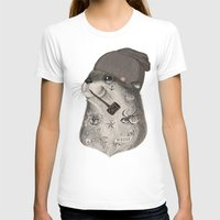 otter T-shirts featuring OTTER by Thiago Bianchini