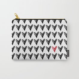 HEARTS ALL OVER PATTERN V Carry-All Pouch