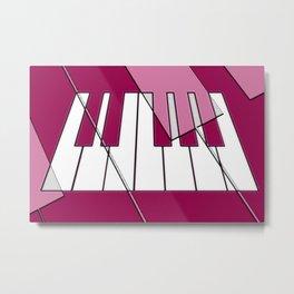 Music Pink 2 Metal Print