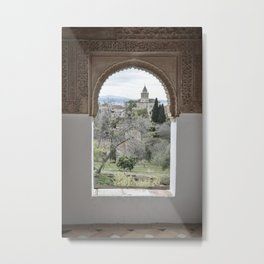 Window to Granada Metal Print