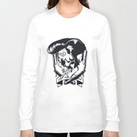 rock n roll Long Sleeve T-shirts featuring Rock n roll skull by Monster Graphics