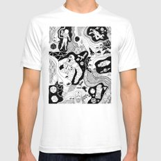 Cosmic Atomic  SMALL White Mens Fitted Tee