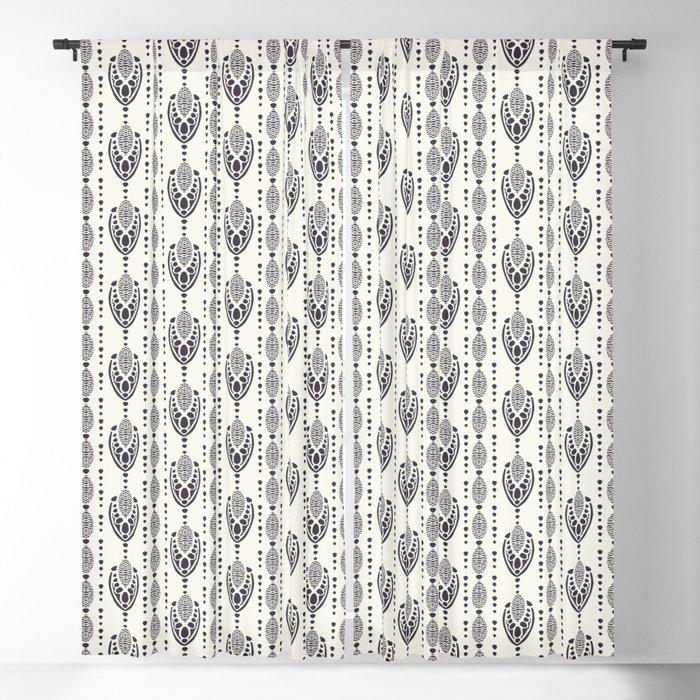 Art Nouveau ornamental motif Jugenstil style. Blackout Curtain