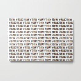New York (horizontal typography) Metal Print