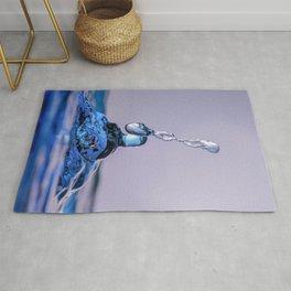 Blue water drops 0900 Rug
