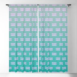 Vegan Power Vegetarian Workout Graphics Blackout Curtain