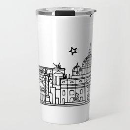 Roma (Rome), Italy, Europe City Skyline Illustration Drawing Travel Mug