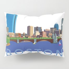 Back Bay Boston Skyline Pillow Sham