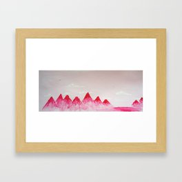 Pink Mountains Framed Art Print