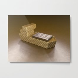 Chocolate Ship - 3D Art Metal Print