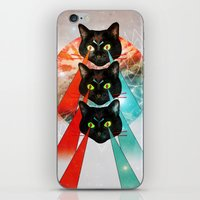 hippy iPhone & iPod Skins featuring Hippy Cats by Lauren Miller
