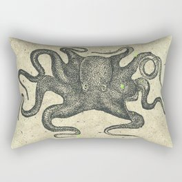 Black Brown Vintage Nautical Steampunk Octopus Rectangular Pillow