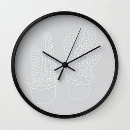 Subtle Cacti Wall Clock