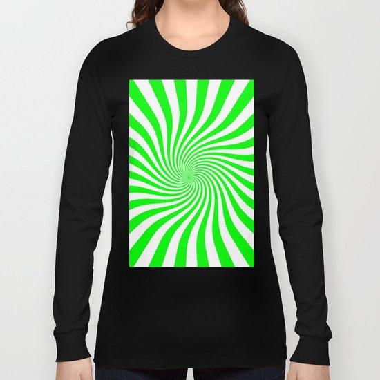 Swirl (Green/White) Long Sleeve T-shirt