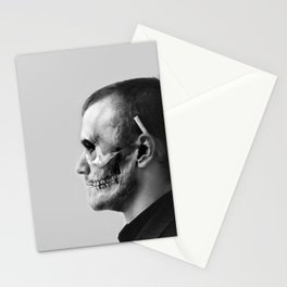 Skull Double Exposure Stationery Cards