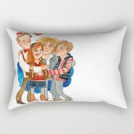 11th Doctor Who and Companions HUG Rectangular Pillow