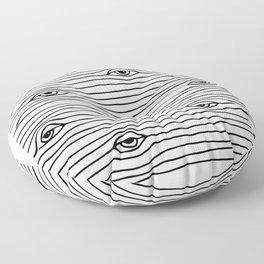PEEPING TOM [BLK & WHT] Floor Pillow
