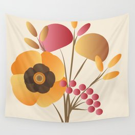 Memorable Florals Wall Tapestry