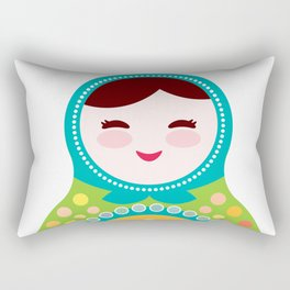 babushka doll matryoshka Rectangular Pillow