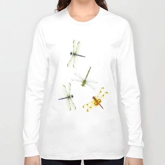 Dragonfly Pattern Long Sleeve T-shirt