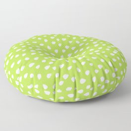 Green and White Seamless Pattern Paint Brush Strokes Floor Pillow